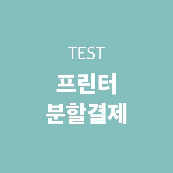 (테스트)프린트 분할결제